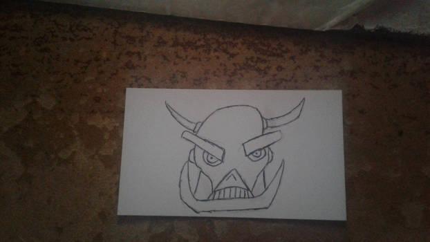 DEATH'S HEAD SKETCH CARD