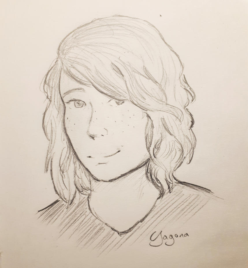 New haircut - sketch by Yagona