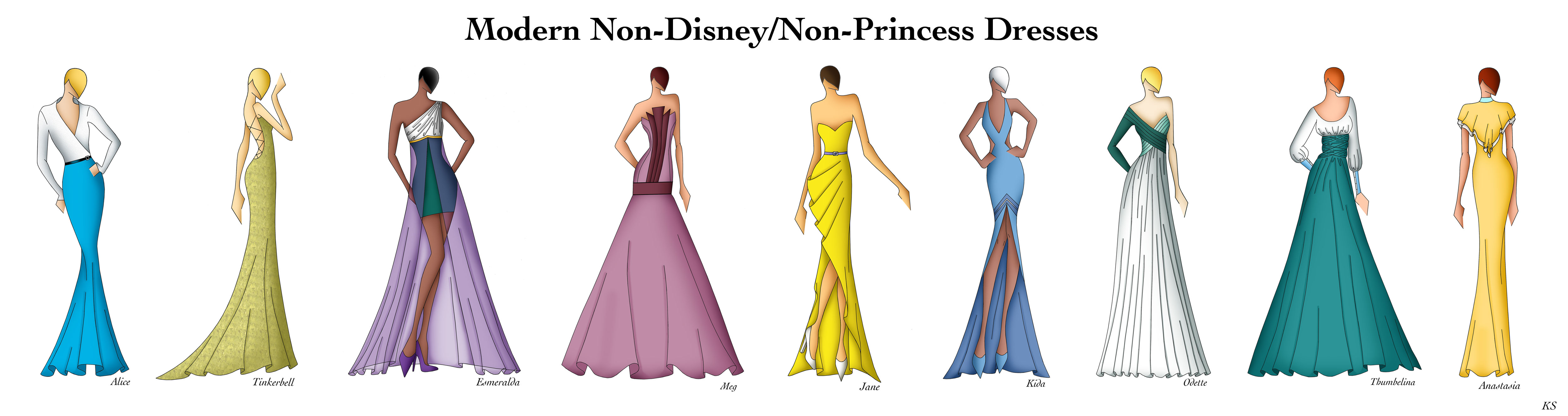 Modern Non Disney Non Princess Dresses By Ellevira On Deviantart