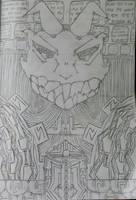 Dragon Head (School Scribble) by 4tri