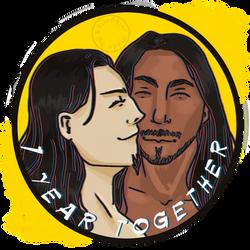 [OC] 1 year together by Bdiwdbwr