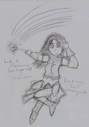 Lux - Lady of Luminosity and Rainbow Lasers