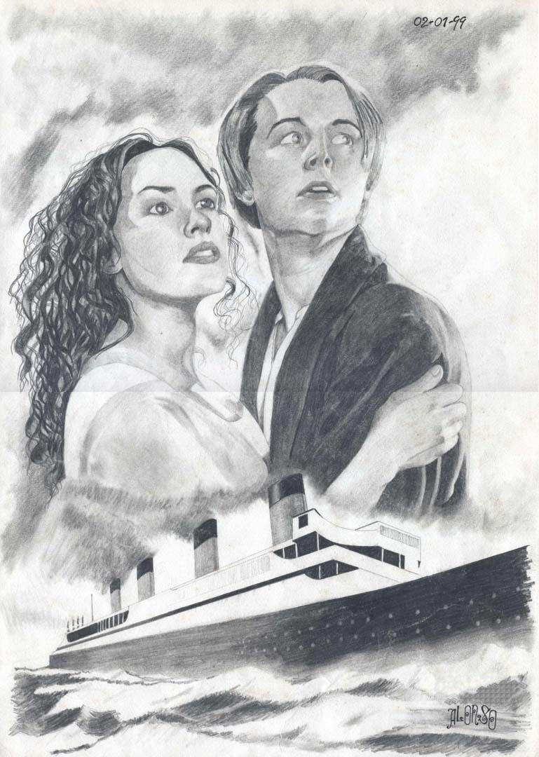 Titanic Pencil Drawings Preview