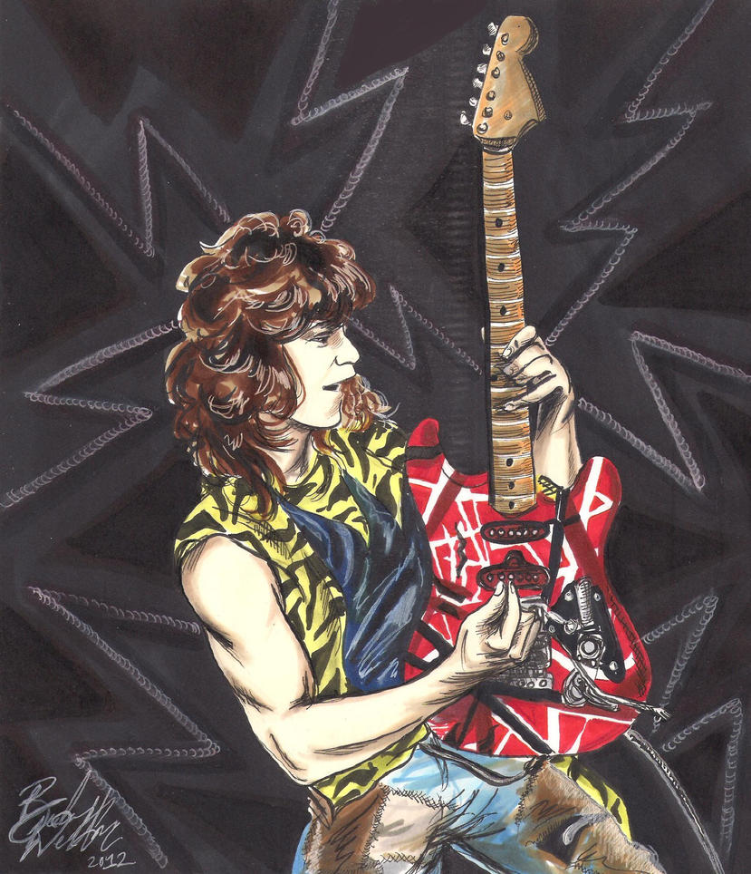 Eddie Van Halen by cozywelton