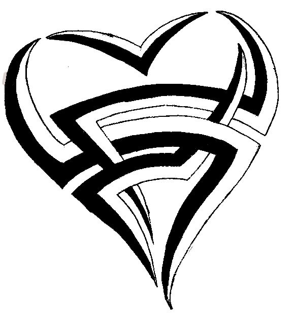 Drawings Of Tribal Hearts Heart tribal by Spykim...