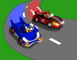 Mario and Sonic Racing by gameboy7793