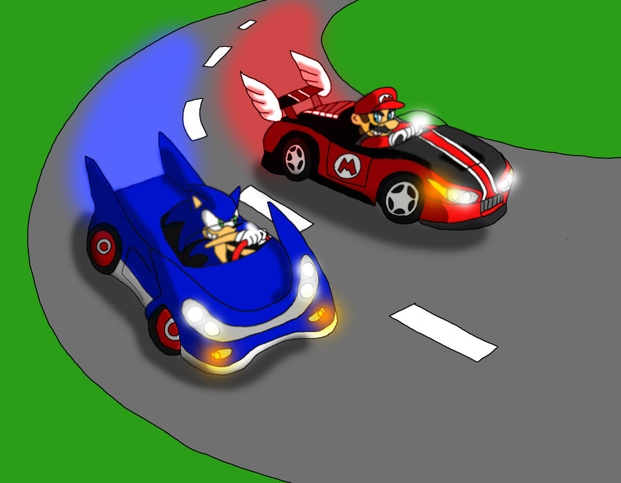 Mario and Sonic Racing by gameboy7793 on DeviantArt