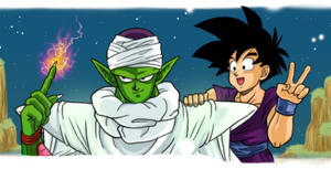 Piccolo and Gohan by TechnoRanma