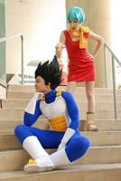 DBZ cosplay - Vegeta and Bulma by TechnoRanma