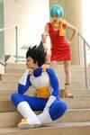 DBZ cosplay - Vegeta and Bulma