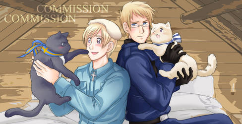 Commission - SuFin with Cats by TechnoRanma