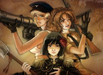Nyotalia Axis Powers by TechnoRanma