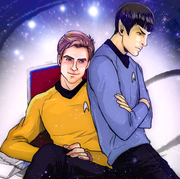 kirk spock gay art