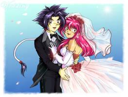 Beyblade Wedding: Ray and Mariah by TechnoRanma