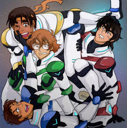 Voltron pile up by TechnoRanma