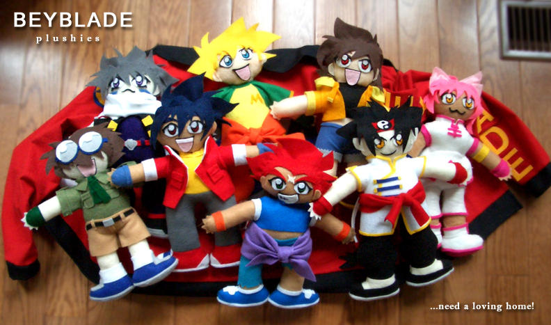 All the Beyblade Plushies by TechnoRanma