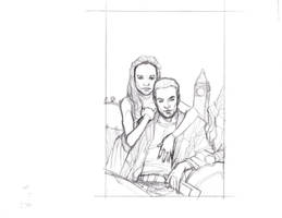 Buffy the Vampire Slayer Drusilla and Spike Sketch