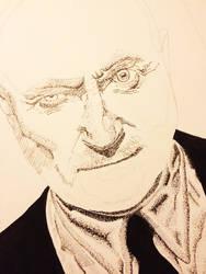 Phil Collins Stippling WIP