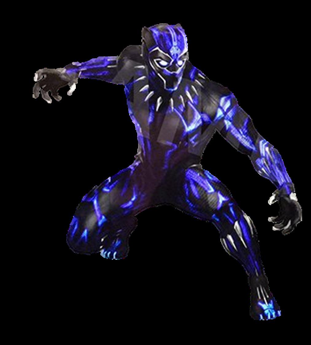 Black Panther Glow Suit 1 - Transparent by Captain ...