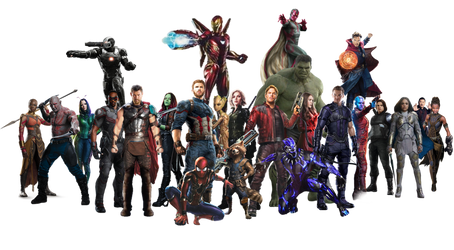 Infinity War Team - PNG by Captain-Kingsman16