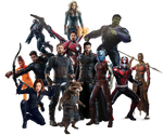 Avengers 4 Team - PNG - UPDATED