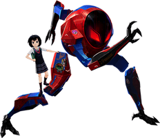 Spider-Verse - Sp/dr (Peni Parker) (1) - PNG by Captain-Kingsman16