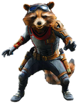 Avengers Endgame Rocket Raccoon (2) - PNG