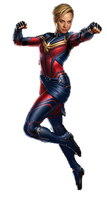 Endgame Captain Marvel (1) - PNG