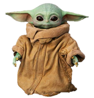 'Baby Yoda' (The Child/Asset) (2) - PNG