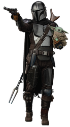 The Mandalorian and The Child (Baby Yoda)(2) - PNG