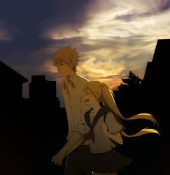 Sunset by asaimomoe