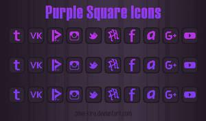 Purple Square Icons