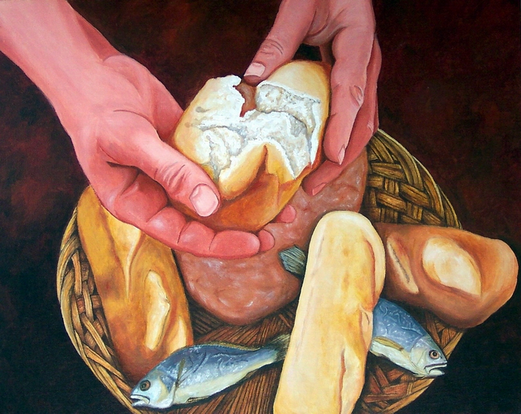 Loaves and Fishes by jfkpaint on DeviantArt