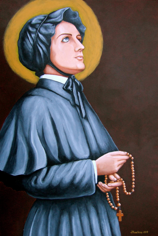 Saint Elizabeth Ann Seton by jfkpaint