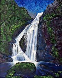 Waterfall 5 by jfkpaint