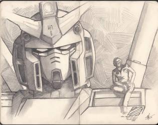 RX-78NT1 Gundam Alex  me as a pilot :3 by Valenoo