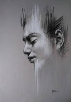 Charcoal and pastel portrait
