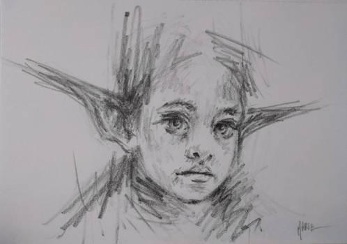 Elf sketch portrait
