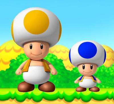 Baby toad mario
