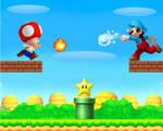 NSMB Mario vs Toad: Star chasing