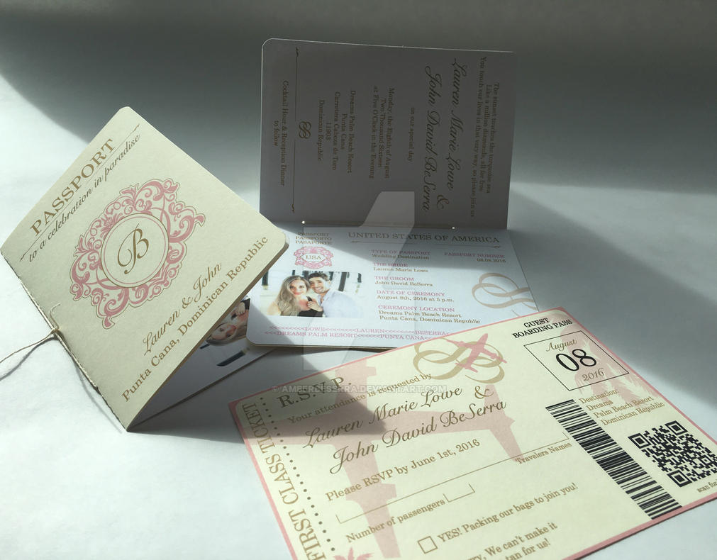 Passport Wedding Invitation by AmberBeSerra