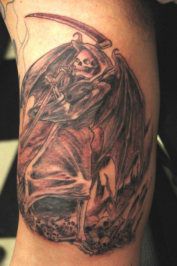 Angel of Death Tattoo by