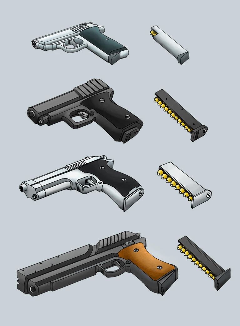 Handgun Designs by Dawnflyer
