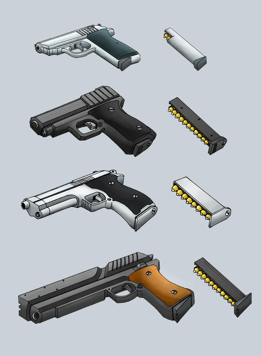 Handgun Designs by Dawnflyer