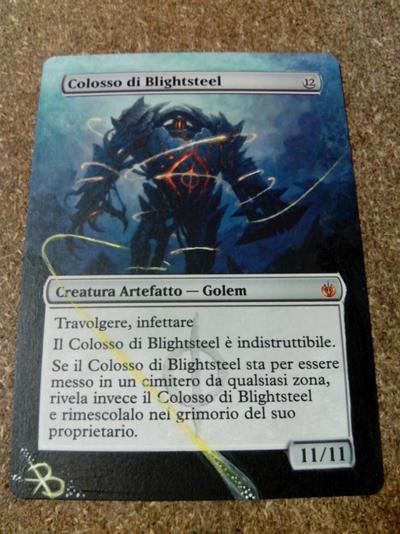 MTG Alter - Blightsteel Colossus by bluindigo