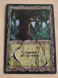 Forest MTG Altered Art by bluindigo
