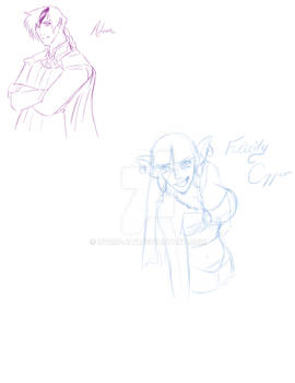 Infinite Origins Character sketches