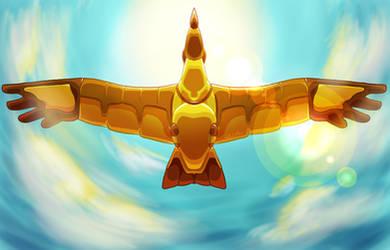 His Winged Machine (Background)