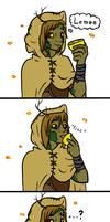Hivebody eats a lemon and mehs