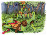 TMNT: Relaxing in the Forest